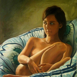 Branko Blagojevic: 'Star Chair 1', 2009 Oil Painting, Figurative.