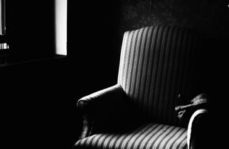 Bruce Panock: 'Chair', 2007 Black and White Photograph, Still Life. Artist Description:  A subdued antural lightImages are pritned on archival papers with archival inks.Different sizes are available upon request.    ...