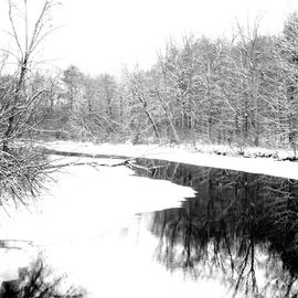 Bruce Panock: 'Hosatonic Winter 2009', 2009 Black and White Photograph, Landscape. Artist Description:  The isolation and quiet of winterImages are pritned on archival papers with archival inks.Different sizes are available upon request.      ...