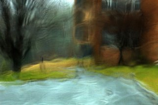 Bruce Panock: 'Rainy Day November 2009', 2009 Color Photograph, Landscape. Artist Description:  This image was taken during a very heavy rain storm.  The appearance is not a result of heavy manipulation.  It is solely due to the movement of rain on a windshield.Images are pritned on archival papers with archival inks.Different sizes are available upon request.      ...