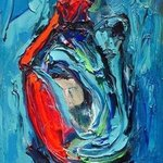 blue female abstract by bruni By Bruni  Sablan