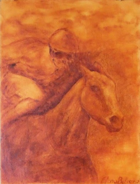 Elena Belkova  'Keeneland', created in 2007, Original Painting Oil.