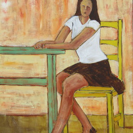 Girl at a Table By Bryce Brown