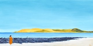 Bryce Brown: 'Omapere', 2015 Acrylic Painting, Seascape. Artist Description:  Omapere in the beautiful Hokianga Harbor, New Zealand. I painted this upon my return from vacation in this idyllic spot in New Zealand.This painting captures the light and  color of Omapere. ...