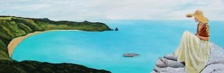 Bryce Brown: 'sea change', 2017 Acrylic Painting, Figurative. Set in the Coromandel, New Zealand Sea Change is the perfect blend of my older iconic figure paintings and my more recently developed techniques for coastal and landscape work. I m really very happy with this new painting Sea Change brings a sense of calm to the room. A beautiful ...