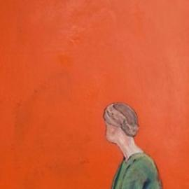 Bryce Brown: 'woman on orange', 2017 Acrylic Painting, Figurative. Artist Description: This is a return to the figure, uncompromised, no unnecessary detail or background decoration. Woman on Orange is painted in bold complimentary colours and incorporates my classic rendering of the figure in a strong, contemporary style. ...