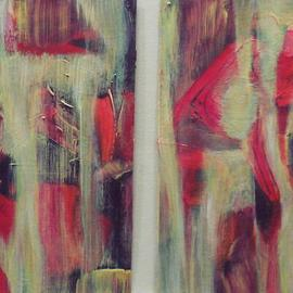 Lynne Sonenberg Artwork Abstract Duo, 2013 Acrylic Painting, Landscape