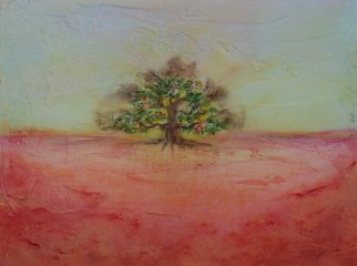 Landscape Acrylic Painting by Lynne Sonenberg Title: WishGranting Tree, created in 2010