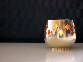 Mike Vukich: 'Candle', 2006 Color Photograph, Still Life. Artist Description:  Candle holder on tabletop. ...