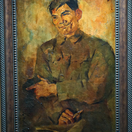 Quang Anh Bui: 'Tao Mat', 1970 Oil Painting, Military. Artist Description:  Art and War ...