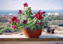 - artwork Flowers_on_the_balcony-1259095405.jpg - 2003, Painting Oil, Still Life