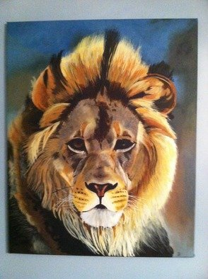 Artist: Jordan Burandt - Title: Lion - Medium: Acrylic Painting - Year: 2010