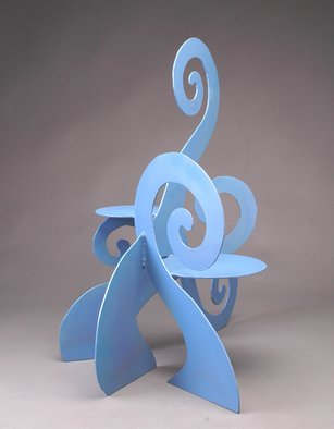 Zophia Kneiss: 'Supporting Growth', 2006 Furniture, Abstract.  One of a kind plant stand or childs chair.  ...