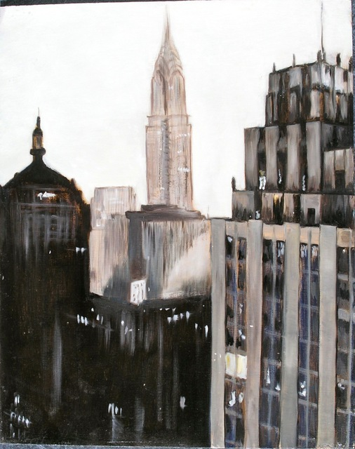 Christian Dollet  'NY 1', created in 2010, Original Pastel Oil.