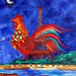 LE COQ M LA TOUR EIFFEL A PARIS By Marie-France Busset