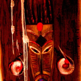 African mask 3 By Bridget Busutil