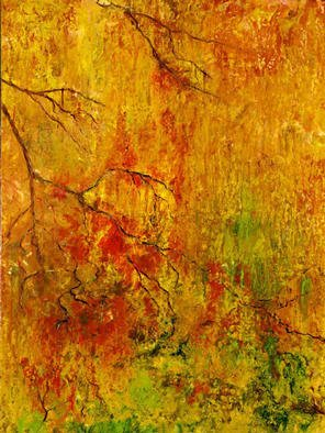 Bridget Busutil: 'Thoughts', 2002 Encaustic Painting, Landscape. Artist Description: encaustic on board:intricacies of branches unfolding as our thoughts...