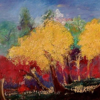 , Enchanted Garden, Abstract Landscape, Sold