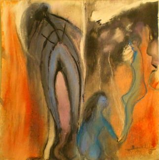 Bridget Busutil Artwork the rift 2, 2008 Pastel, Abstract Figurative