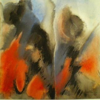 Bridget Busutil Artwork the rift 3, 2008 Pastel, Abstract Figurative