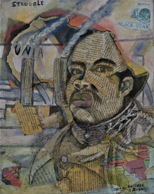 Delroy Russell  'Garvey', created in 2020, Original Collage.