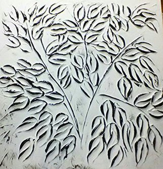 Catherine Anderson: 'Ficus in Black and White', 2016 , Floral. Artist Description:  A Ficus done in Black. On a white background. ...