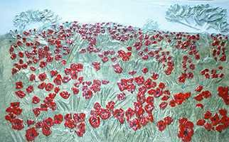 Catherine Anderson: 'Poppy Field', 2016 , Floral. Artist Description:  A beautiful field with poppies as far as the eye can see. ...