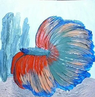 Catherine Anderson: 'beta', 2017 , Animals. Artist Description: large beta fish...