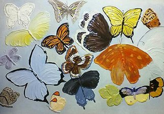 Catherine Anderson: 'butterflies', 2017 , Floral. Artist Description: relief of butterflies and moths...