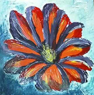 Catherine Anderson: 'wild flower', 2017 , Floral. Artist Description: large flower...