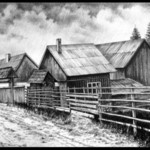 houses near the road By Calin Baban