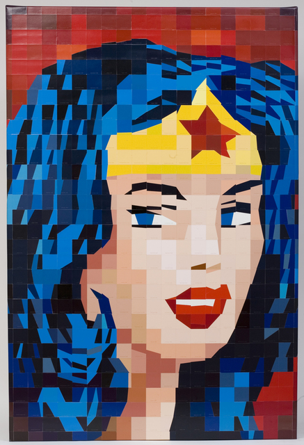 Carlos Tirado  'After Wonderwoman', created in 2011, Original Mixed Media.