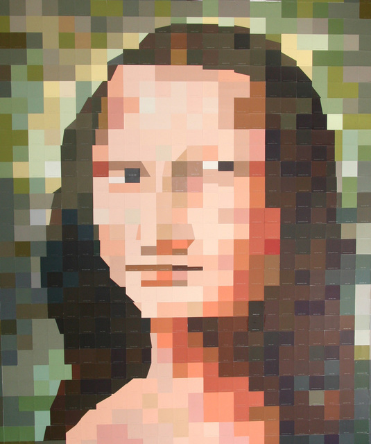 Carlos Tirado  'After Mona Lisa', created in 2011, Original Mixed Media.