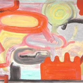 Mark Schwing: 'The Dugout', 2013 Acrylic Painting, Surrealism. Artist Description:          Abstract Surrealism with red shapes.                ...