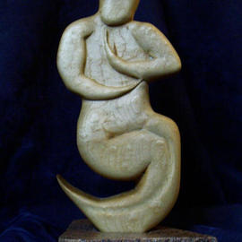 Bryan Patterson: 'Dancing Shiv', 2003 Mixed Media Sculpture, Abstract Figurative. Artist Description: Flowing, evolving fertility figure of maple and granite....