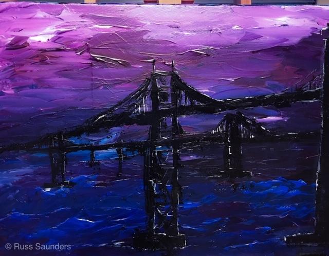 Russell Saunders  'The Bridge', created in 2019, Original Painting Acrylic.