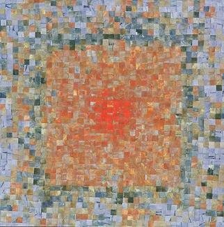 Carmine Santaniello: 'Soft Flames', 2007 Monoprint, Abstract.  From my Mosaic Series an altered monoprint. ...