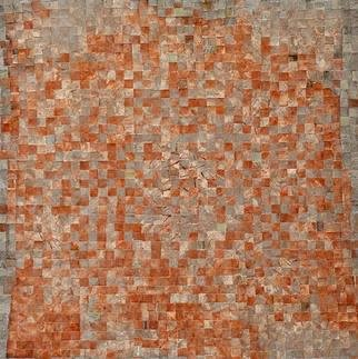 Carmine Santaniello: 'Terracotta', 2007 Monoprint, Abstract. From my Mosaic series of altered monoprints. ...
