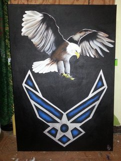 Military Acrylic Painting by Carlos Thompson titled: bravo calling, created in 2014