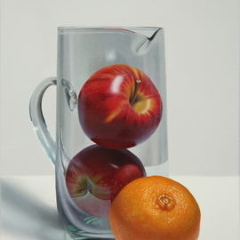 Carlos Bruscianelli: 'fruits still life ii', 2018 Oil Painting, Still Life.