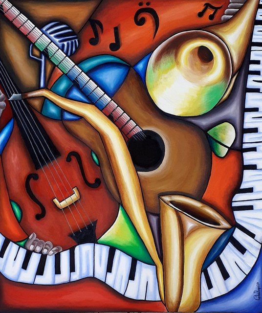 Carlos Duque  'Smooth Jazz', created in 2020, Original Painting Oil.