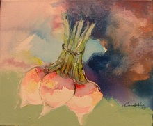 - artwork 3Turnips-1231094870.jpg - 2009, Painting Acrylic, Figurative