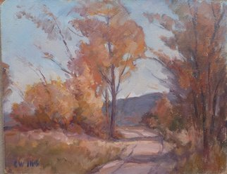 Peter Illig Artwork Country Road, Autumn, 1964 Oil Painting, Landscape