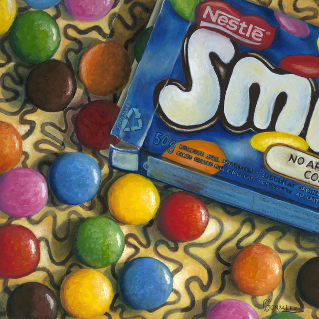 Carmen Gonzalez  'Smarties Snack', created in 2012, Original Painting Acrylic.