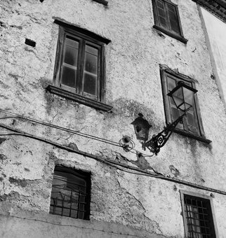 Carmine De Gregorio: 'Finestre', 2016 Black and White Photograph, Popular Culture. Artist Description:  The windows behind which life flowed slowly ...