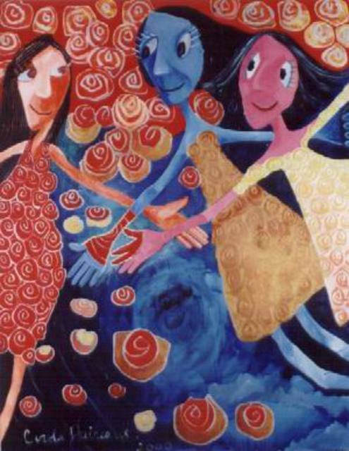 Carola Daireaux  'Chicas Poderosas', created in 2000, Original Mixed Media.