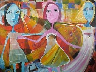Carola Daireaux  'Las Tres Hermanas', created in 2000, Original Mixed Media.