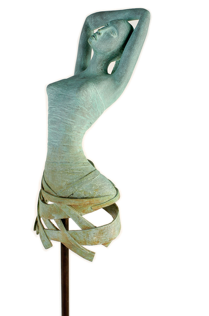 Carolina Rodriguez  'La Romantica', created in 2009, Original Sculpture Bronze.