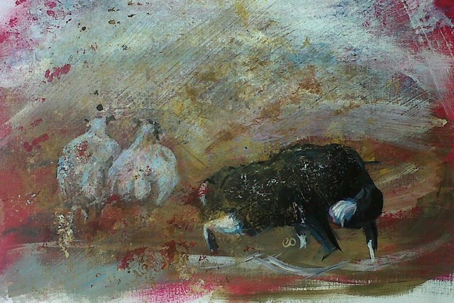 Caroline Dilworth  'The Last Two Stragglers ', created in 2011, Original Painting Acrylic.