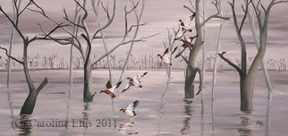 Birds Oil Painting by Caroline Ellis Title: Mallards on the Marsh, created in 2010